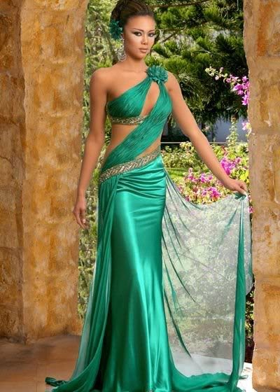 Bright green and dark green wedding dress designs for Green dresses to wear to a wedding
