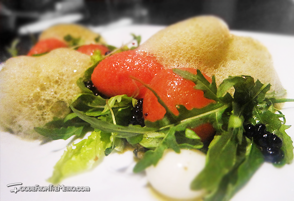 Foodie from the Metro - Opus Restaurant and Lounge Modernist Caprese Salad