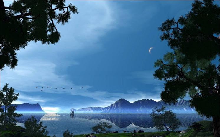fantasy moon fantasy world fantasy sky and clouds fantasy castle