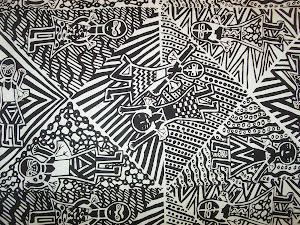 Design Exibition of Australian Indigenous Printed Fabrics .