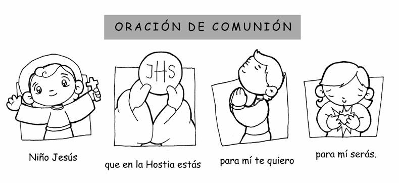 La Santidad como tarea.: ORACIÓN DE COMUNIÓN PARA COLOREAR Y IMPRIMIR