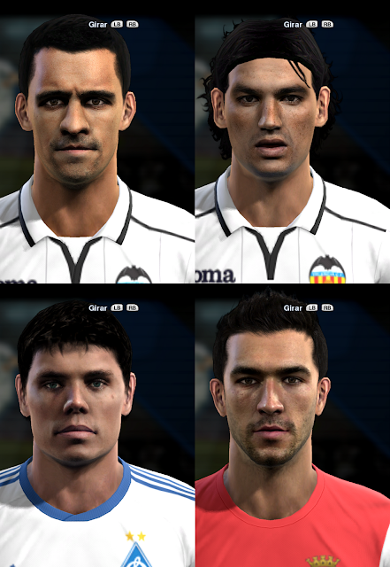 Ricardo Costa, Tino Costa, Ognjen Vukojević e Hugo Viana Faces - PES 2013