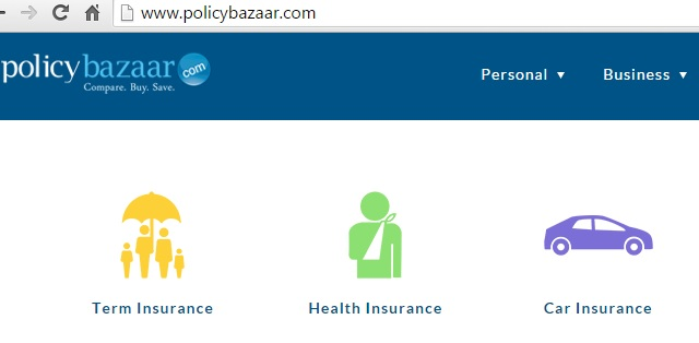 Website that ends with bazaar policybazaar
