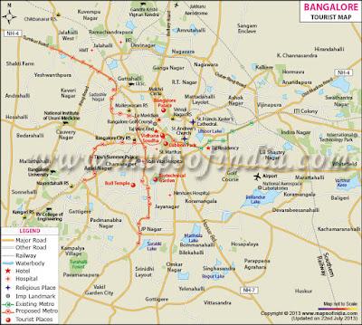 Bangalore map