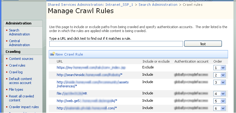 SharePoint Search Crawl Rules