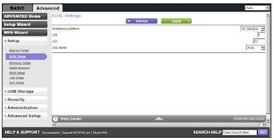 Netgear Genie ADSL screenshot