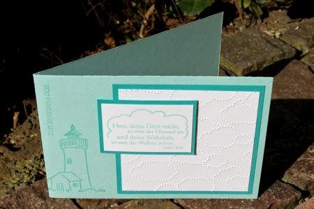 Konfirmationskarte mit leuchtturm for Leuchtturm basteln