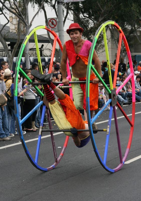Rainbow wheel WEHO Pride Parade