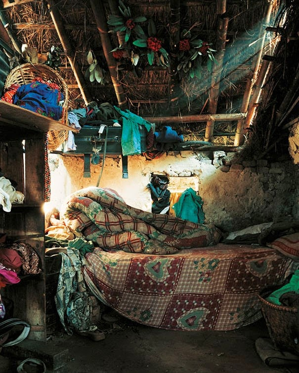 16 Children & Their Bedrooms From Around the World - Indira, 7, Kathmandu, Nepal - Indira's Bed