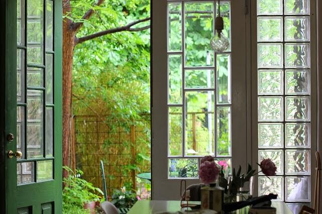 Bien chiné: La cocina de los azulejos verde agua