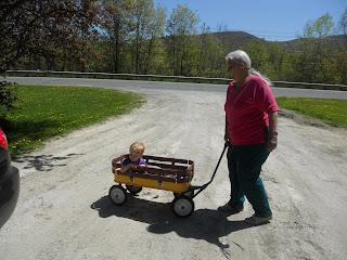 Nana pulling Garrett