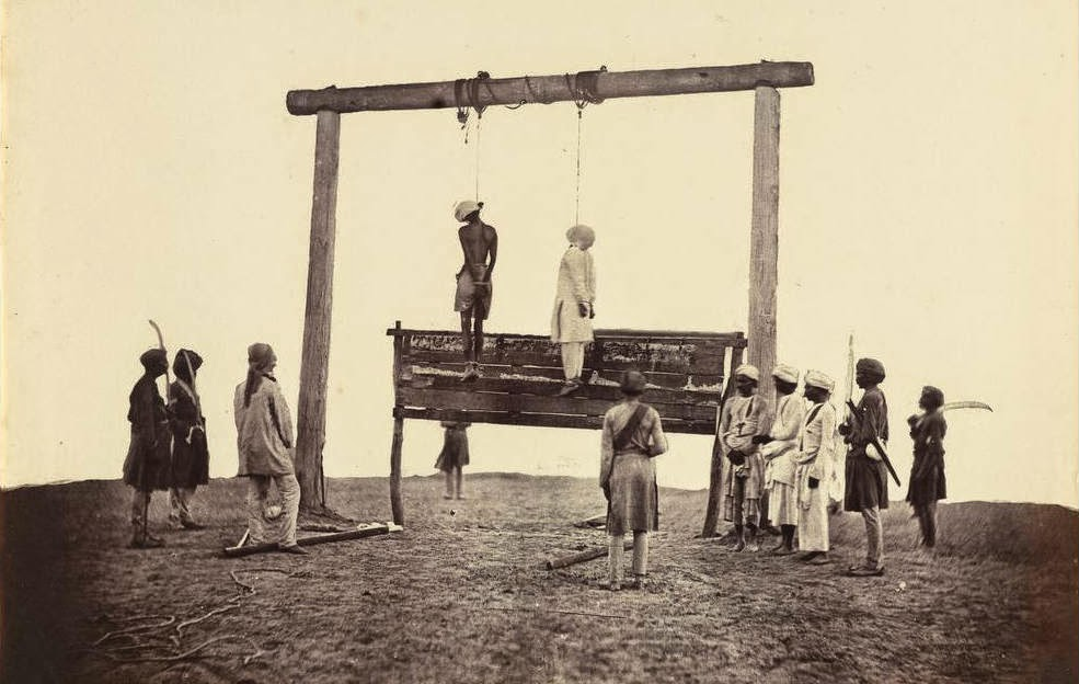 Two sepoys of the 31st Native Infantry who were hanged at Lucknow in the revolt of 1857