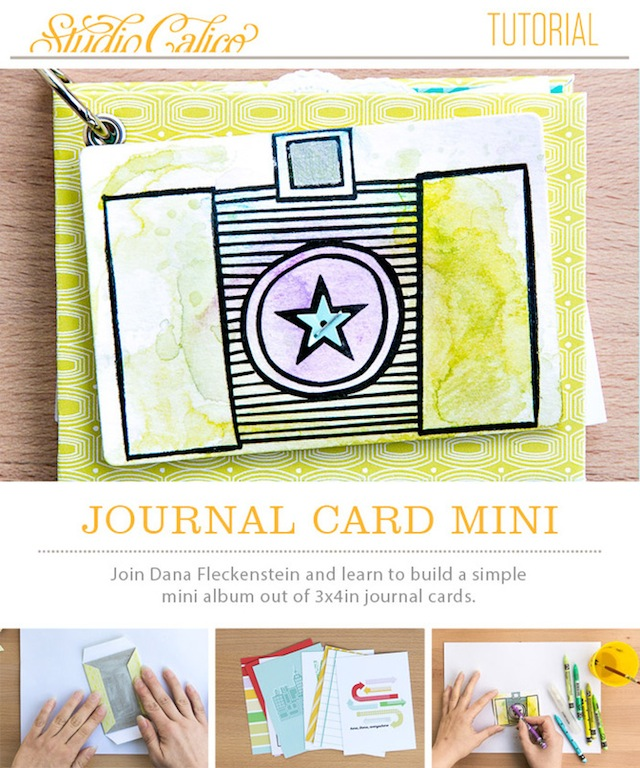 Journaling Card Mini Book by @pixnglue