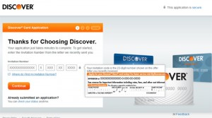 How To Use Invitation Number Or Code To Apply For A Discover Card