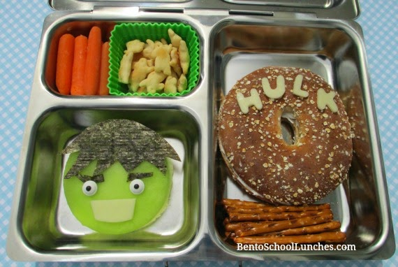 Avengers Hulk bento school lunch, Planetbox Launch