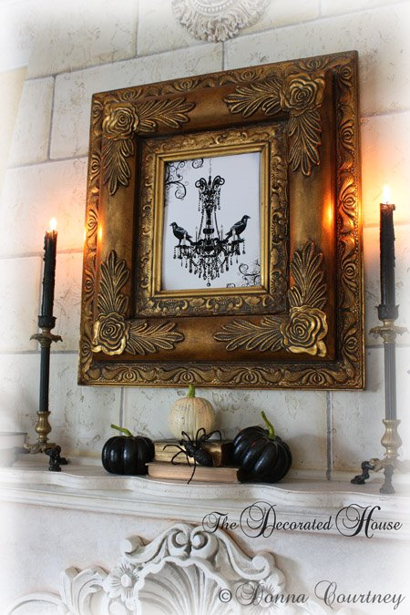 Halloween Art Print Raven Chandelier Donna ~ The Decorated House