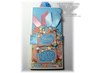 Crafty Colonel Donna Nuce, Baby Accordian Tag Album, G45 Precious Memories