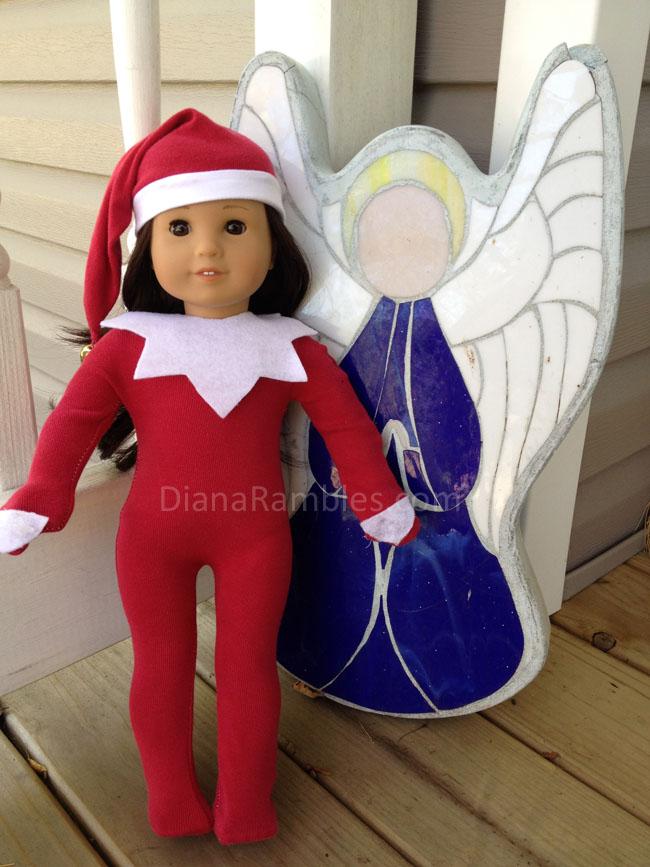 American Girl Elf on the Shelf - Diana Rambles