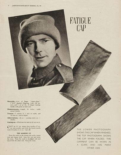 1940's Knitting - A Fatuige Cap