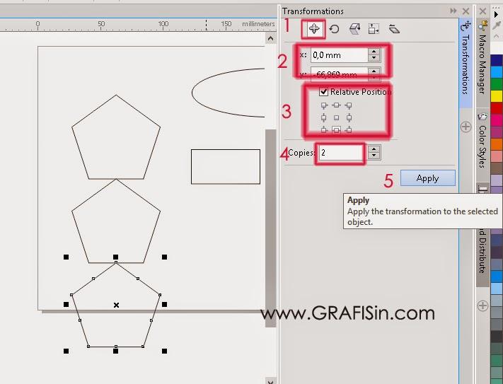Menggerer Memindahkan dan Menduplikasi Objek di CorelDraw X7