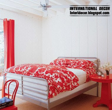 red curtains window treatments,red curtain for bedroom interior