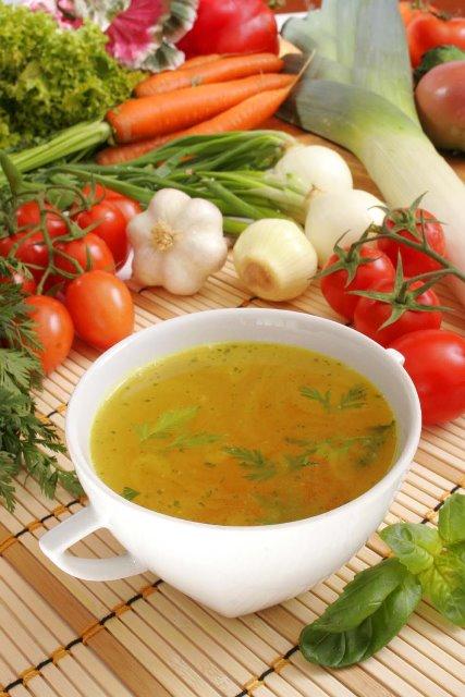 Как сварить овощной бульон для диеты