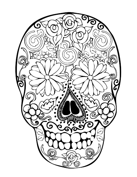 Sugar Skull Coloring Pages Printable