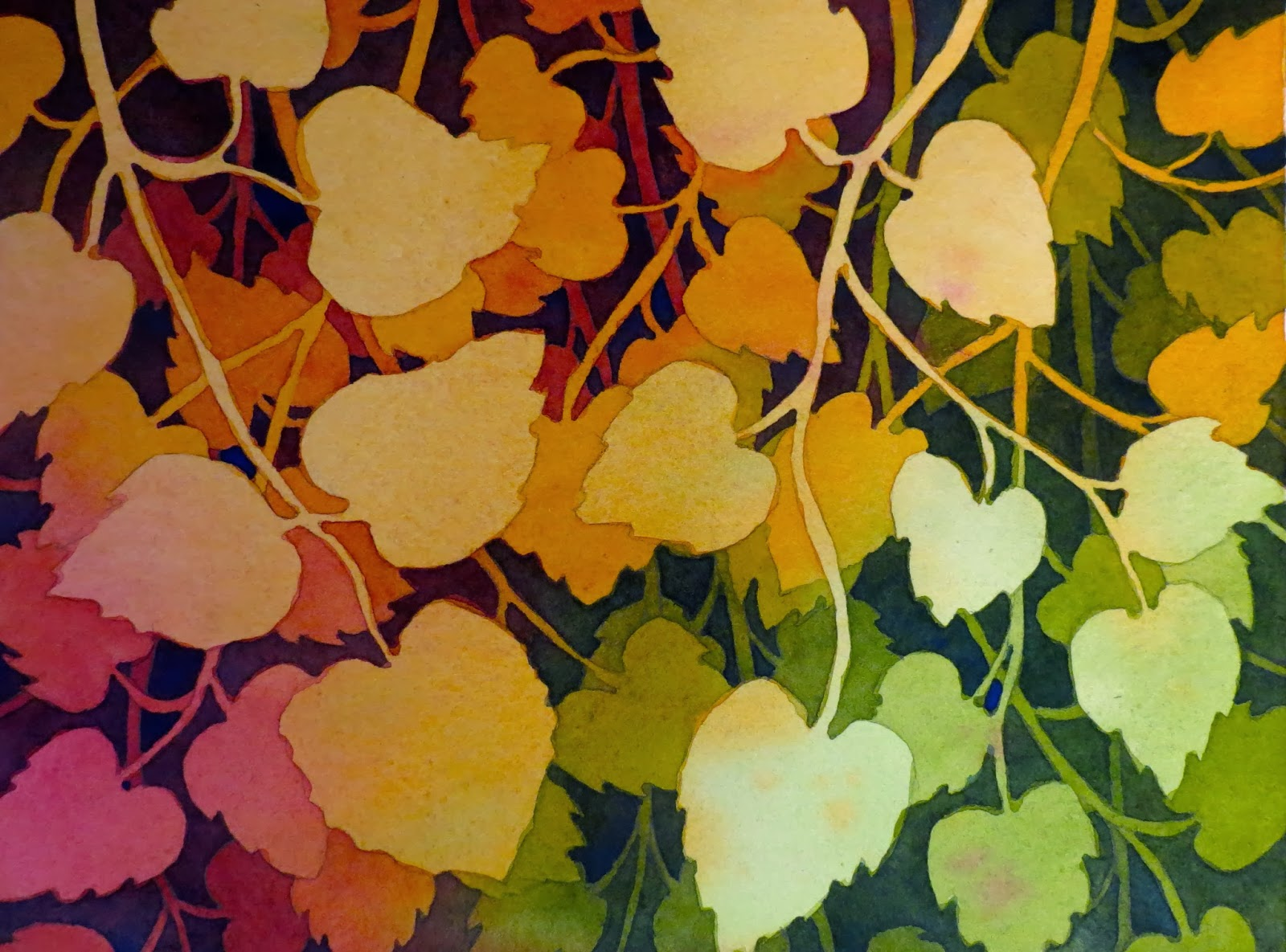 The Painted Prism: WATERCOLOR WORKSHOP: Negative Painting of Aspen ...