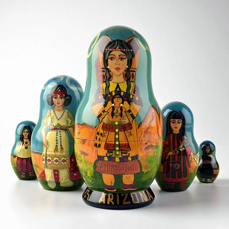 Nesting Dolls - Native American Tribes