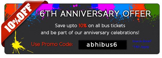 Abhibus discount coupons 2019