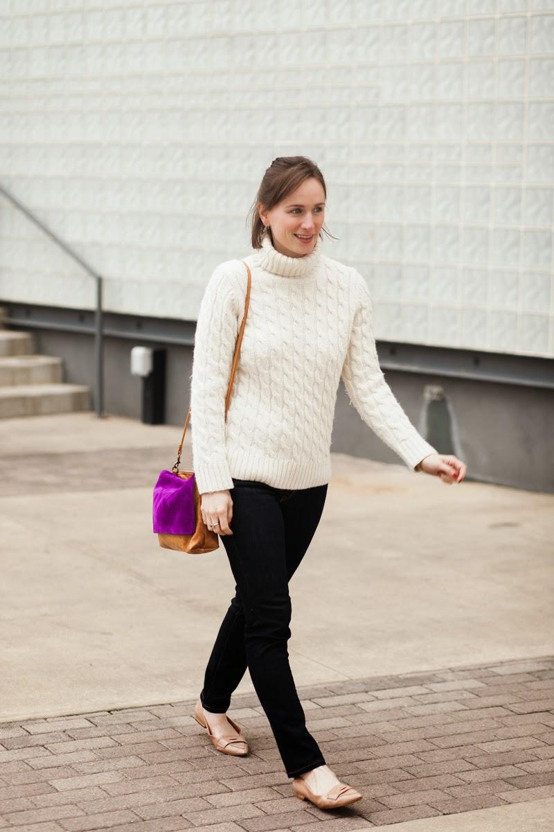 Ceri Hoover, Purple & Camel bag, Nashville blogger, Fashion Blogger