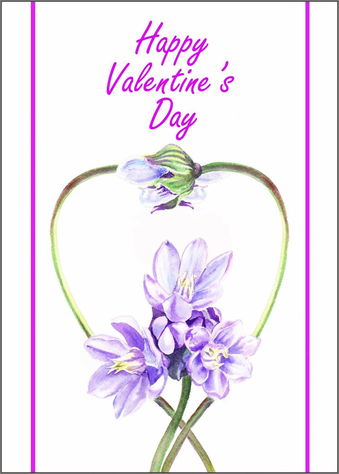 purple flowers forming heart