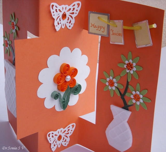 Teachers Day Card Making Ideas Part - 47: Thermocol Craft Card