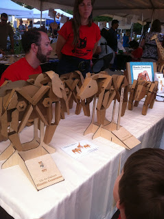 moving cardboard animal display