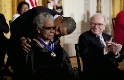 Maya Angelou was awarded the Presidential Medal of Freedom by Barack Obama in 2011