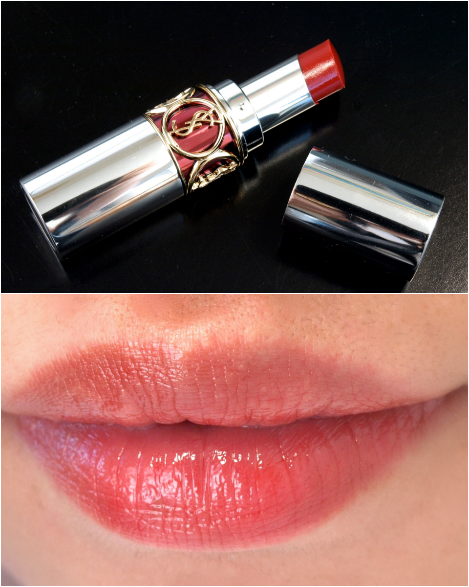 "Yves Saint Laurent Rouge Volupté Sheer Candy in ""7 Sweet Fig"" Review Swatches"