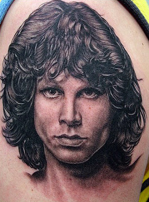 Jim Morrison Black and White Portrait