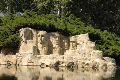 Mt Rushmore in Miniland