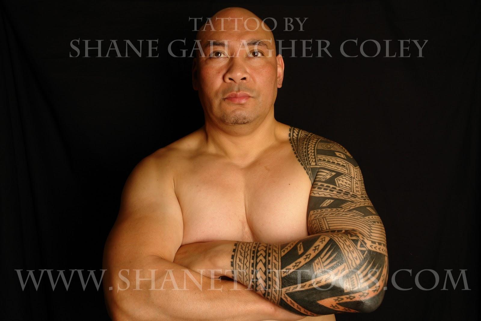 SHANE TATTOOS Polynesian/Samoan Sleeve Tattoo On Sonny