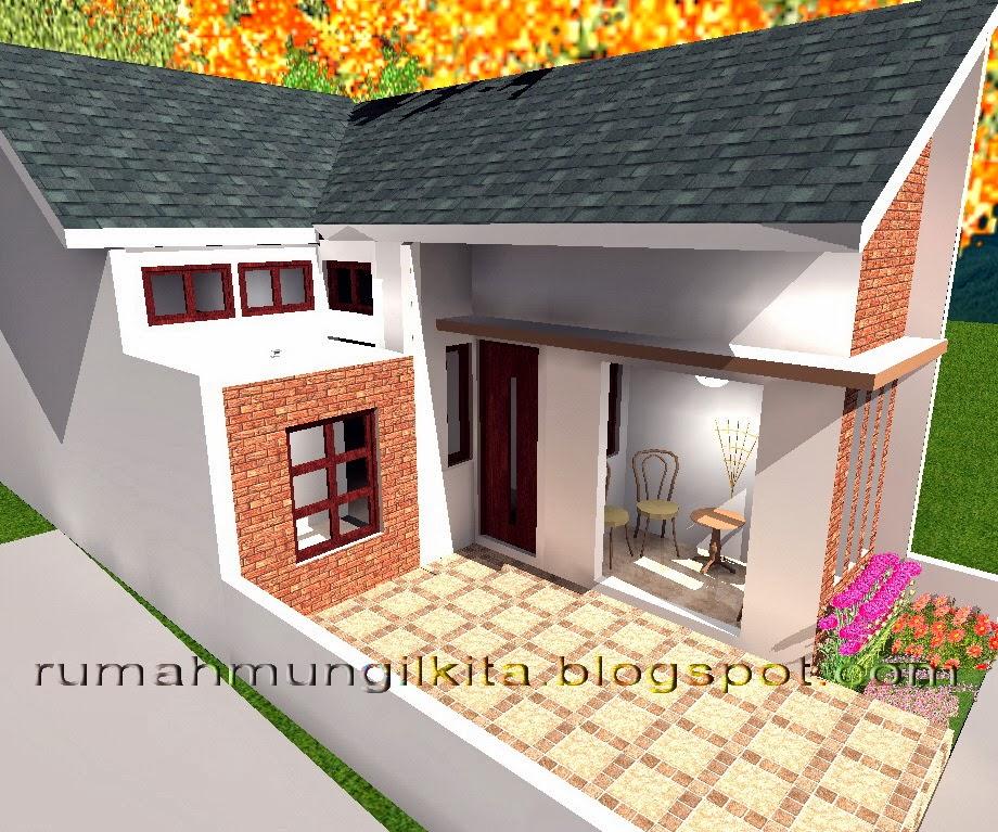 Desain rumah lebar 4 meter dengan 3 kamar tidur - tampak samping kanan
