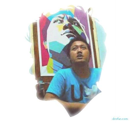 Rekaman video dengan background pop art WPAP