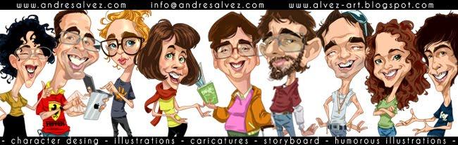 Andres Alvez - caricaturas