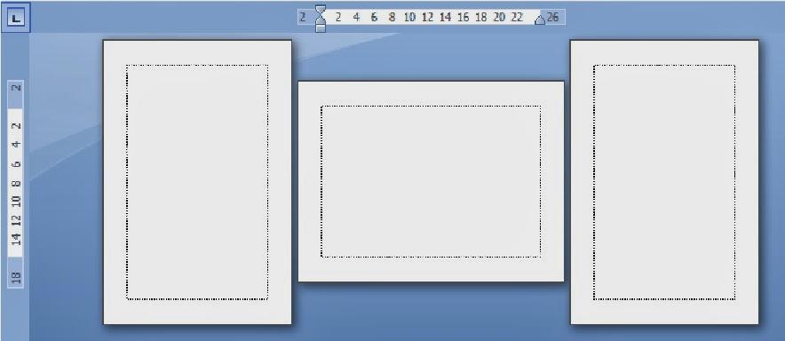 pengaturan posisi kertas yang berbeda