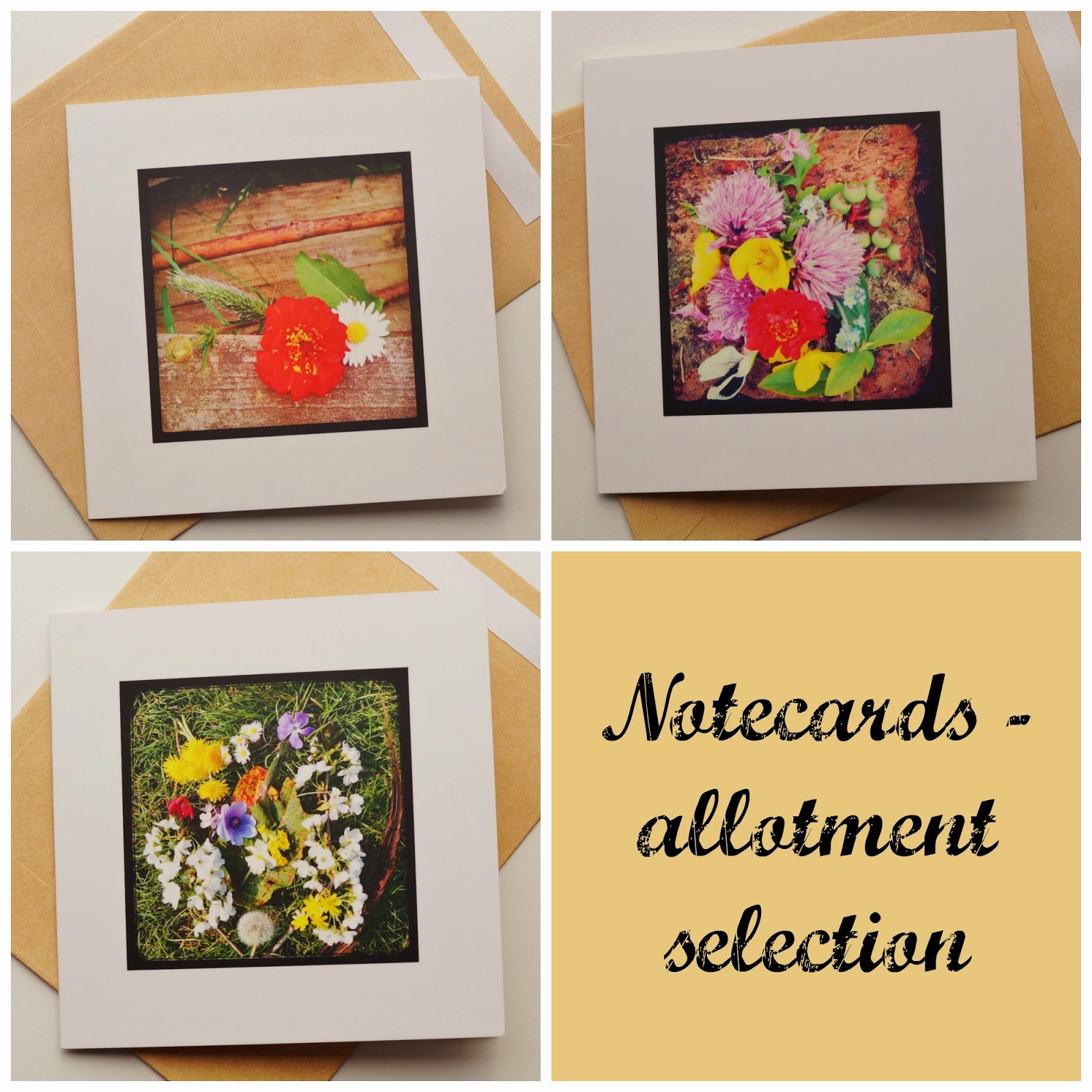 Allotment card collection property of Carrie Gault - ohcherryblossomtattoo.com
