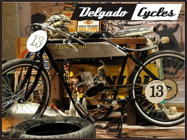 Bicimoto replica harley 1910 race - Delagdo Cycles