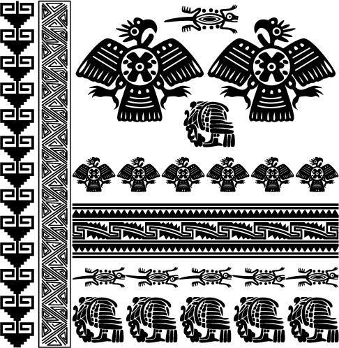 Ornamentos Mayas - vectores