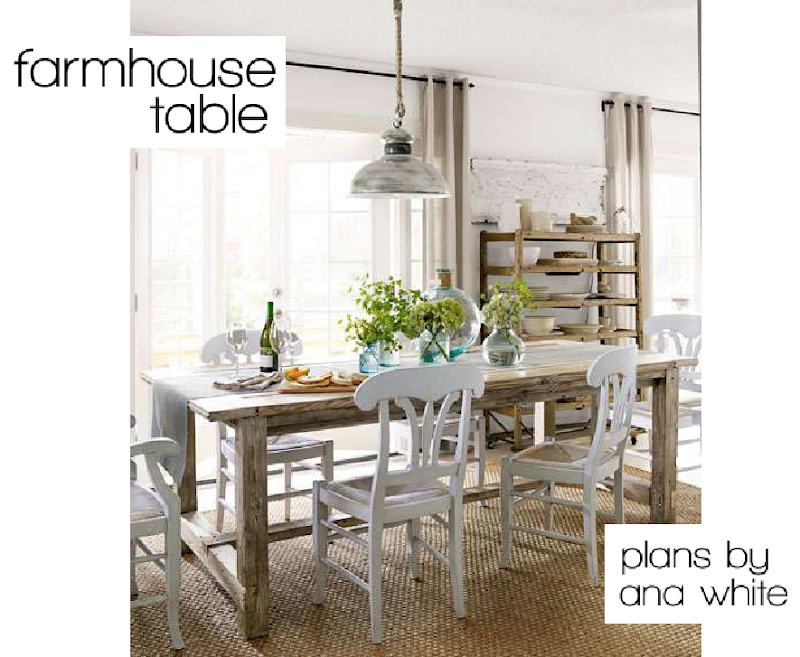 Ana White Farmhouse Table