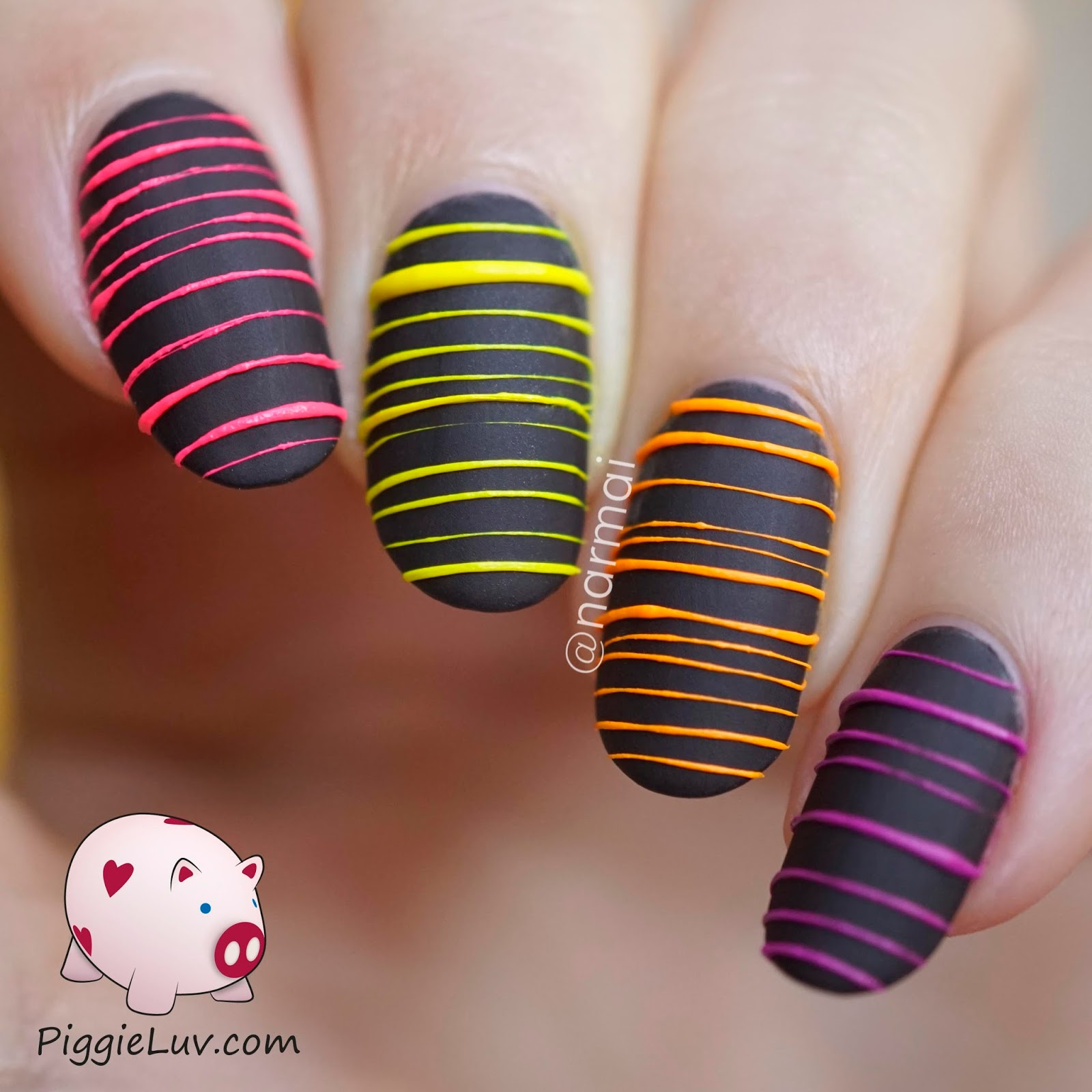 Piggieluv Glow In The Dark Sugar Spun Nail Art Video Tutorial
