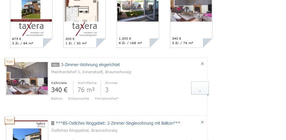 Zimmer Wohnung Braunschweig Weststadt Mieten