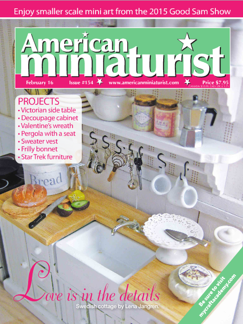 American Miniaturist Magazine February 2016 Issue #154
